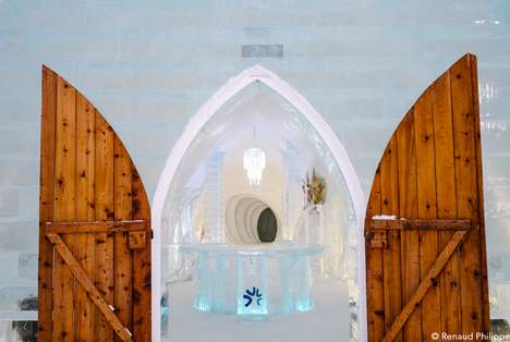 Frozen Castle Hotels - The Hotel de Glace in Quebec Offers a Medieval Winter Experience