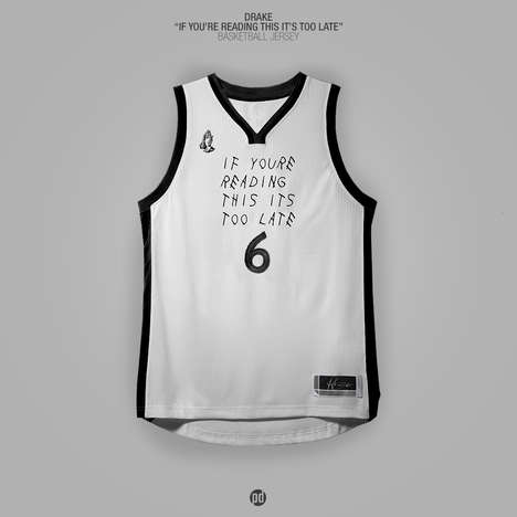 Rap Album Basketball Jerseys - These Conceptual Sports Uniforms Draw Inspiration from Rap Releases
