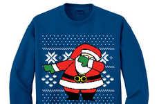 Dancing Santa Sweaters - The 'Dabbing Santa Sweater' Displays St. Nick Doing the Dab