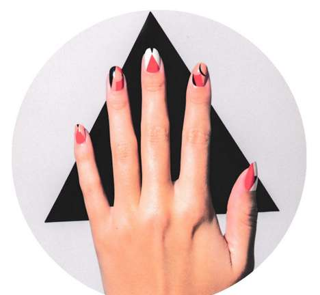 Anatomical Nail Art - The Lena Dunham Nail Art Collection Features Busty Decals