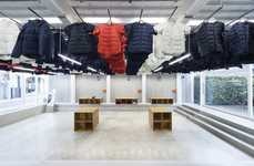 Moving Clothing Displays - The Descente Blanc Store in Fukuoka Features a Suspended Mobile Racks
