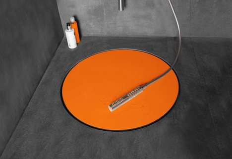 Drain-Covering Shower Stands - The Easy Drain Dot Hole Cover Makes Shower Stalls More Appealing