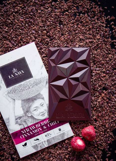 Mountainous Chocolate Branding - This Chocolate Bar Design and Packaging Illustrates Its Origin