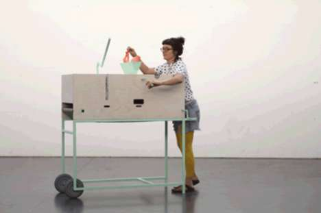 Mobile Manufacturing Carts - This Mobile Device Transforms Plastic Bags into New Objects
