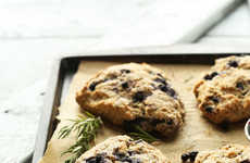 Vegan-Friendly Blueberry Scones - These Simple Scones are Infused with Fresh Rosemary