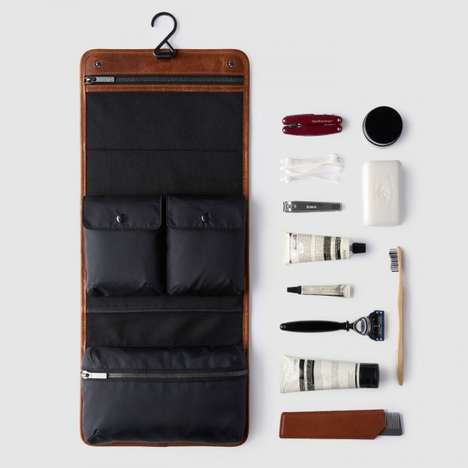 Luxurious Leather Grooming Kits - This Handy Dopp Kit is the Perfect Travel Accessory for Men