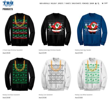 Charitable Holiday Sweaters - 2 Chainz' Line of Ugly Christmas Sweaters Helps Families in Need