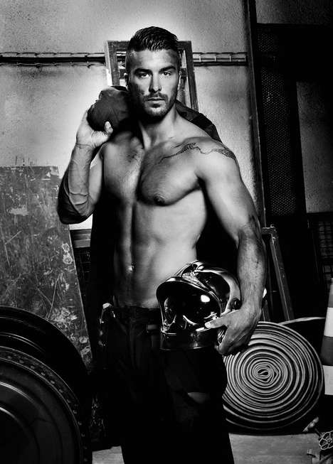 Sultry Fire Awareness Calendars - This Steamy Fire Safety Calendar Features Almost Nude Firemen