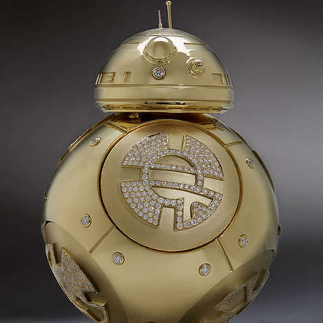 Gilded Sci-Fi Droids - This Diamond-Studded BB-8 Droid is Fit for Luxurious Star Wars Fans