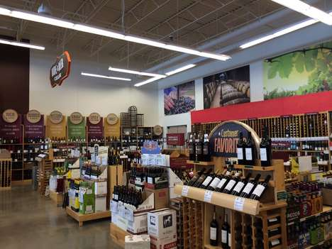 Categorized Wine Displays - World Market's Wine Section Identifies Favorites, Flavor Profiles & More