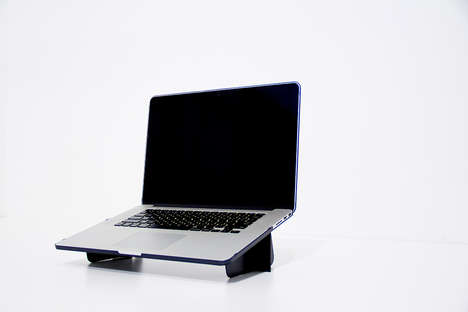 Stand-Embedded Laptop Cases - The Portable Laptop Stand by Simon Ellison Creates an Office Anywhere