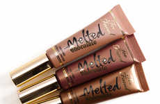 Melted Dessert Lipsticks - These Two Face Liquified Lip Colors are Inspired by the Hue of Chocolate