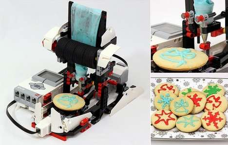 Cookie-Icing Robots - This LEGO Mindstorms EV3 Robot Makes Delicious Treats for the Holidays