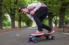Skinny Electric Skateboards - The Micro Slim Electric Skateboard is Excitingly Compact
