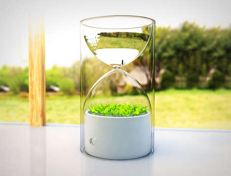 Tiny Hourglass Gardens - This Tiny Garden is Situated in an Hourglass to Fit Into One's Pocket