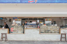 Italian Fare Beach Kiosks - The 'Kiosk d'Asporto' Offers Beachgoers the Best of Italy in Australia