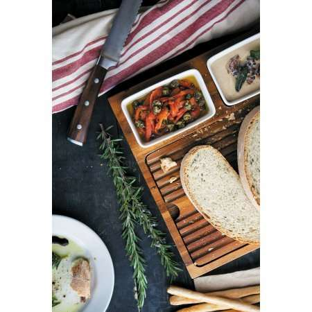 Italian Appetizer Trays - This Wooden Bruschetta Bread Board Enables Guests to Make Their Own Plate