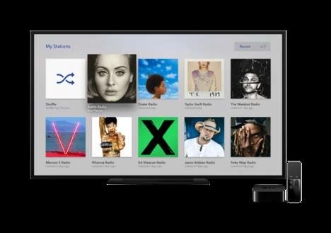 Personalized Streaming Apps - The Apple TV Pandora App Provides an Intuitive, Personal Experience