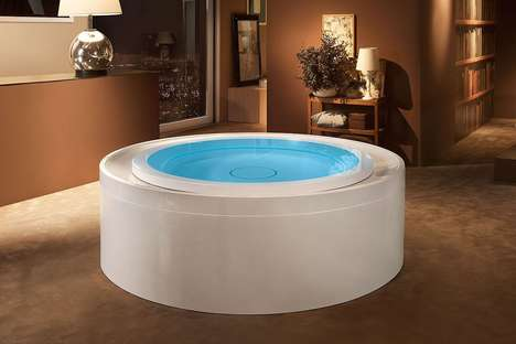 Recirculation Whirlpool Baths - The Fusion 200 Tub Recycles Water While Simultaneously Disinfecting