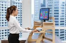 Converting Standing Desks - The Well Desk Transforms Any Regular Workspace into an Elevated One