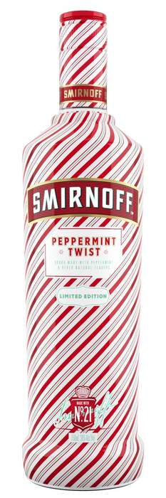 Holiday Peppermint Vodkas - The Smirnoff Peppermint Twist Liquor Features a Candy Cane Packaging