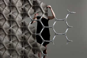 These Modular Office Dividers are Made of Hexagonal Hemp Shapes