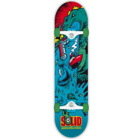 Retro Monster Skateboards - Solid Skateboards' Godzilla Skate Deck Honors the Iconic Creature