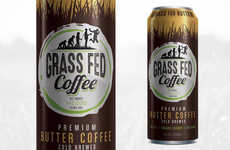 Cold-Brewed Butter Coffees - This Ready-to-Drink Coffee Contains Grass-Fed Butter