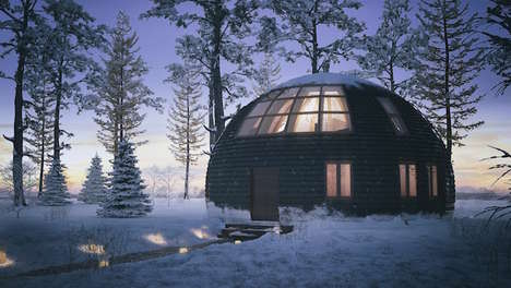 Winter-Ready Spherical Homes - These Skydome Homes Can Withstand Over 1,500 Pounds of Snow