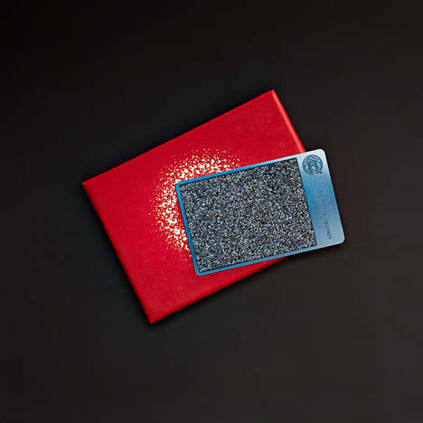 Crystal-Covered Gift Cards - This Starbucks Gift Card is Covered with Blue Swarovski Crystals