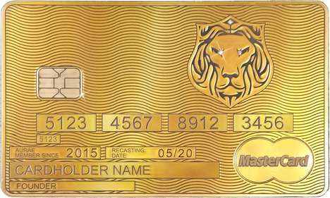 Invite-Only Credit Cards - The Aurae MasterCard is Actually Made of Real Gold