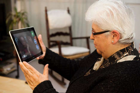 Senior Video Chat Initiatives - This Project Aims to Counteract Loneliness Among Senior Citizens