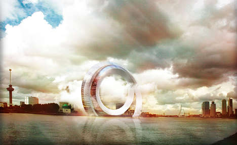 Fururistic Windmill Buildings - The Dutch Wind Wheel Aims to Encourage Eco Buildings in Rotterdam
