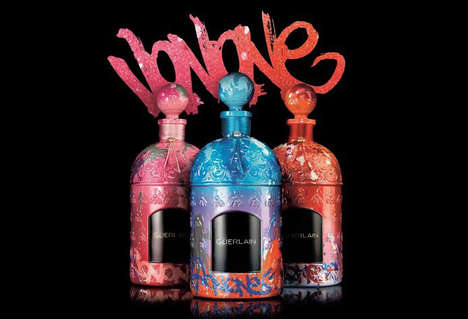Graffitied Fragrance Bottles - JonOne Gives Guerlain's Limited-Edition Fragrance a Colorful Makeover