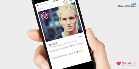 Matchmaking Donor Campaigns - This Organ Donation Campaign Uses Tinder to Captivate Young Audiences