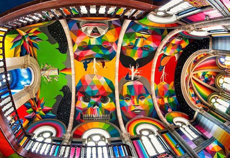 Colorful Church Skateparks - This Religious Chapel is Transformed into a Psychadelic Sport Arena