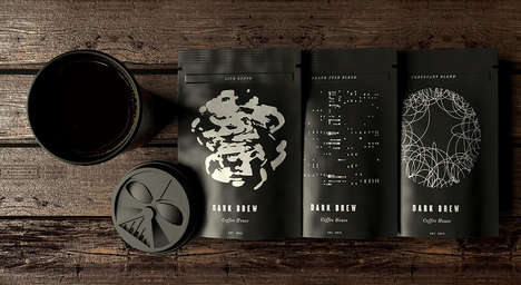 Galactic Character Coffee Branding - The Dark Brew Coffee Range is Targeted to Star Wars Film Fans