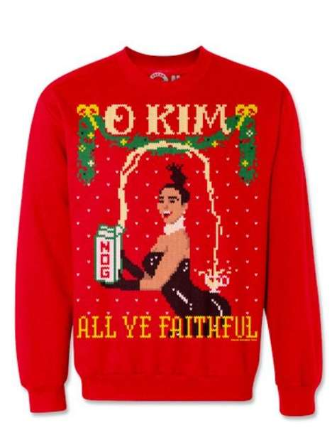 Celebrity Christmas Sweatshirts - These Ugly Pop Culture Sweaters Play on a Popular Holiday Hymn