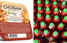 Hot Sauce Yogurts - This Sriracha Mango Greek Yogurt by Chobani Mixes Piquant and Fruity Flavors