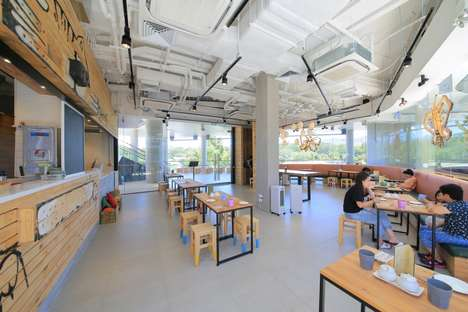 Sustainable Cardboard Cafes - This Cafe Boasts Numerous Environmentally Responsible Features