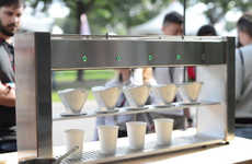 Robotic Coffee Brewers - This Cafe Features a Robot That Can Brew Five Pour-Overs at a Time
