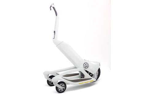 Supplementary Vehicular Scooters - The Volkswagen 'Last Mile Surfer' Three-Wheel Scooter is Sleek