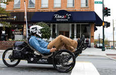 Resilient Recumbent Bikes - The Outrider 'Alpha' Adventure Vehicle Makes Zipping Around Town Easy
