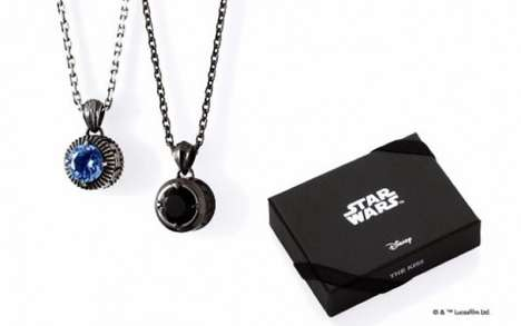 Stylish Sci-Fi Jewelry - The Kiss' Star Wars Necklaces are Intergalactic Chic