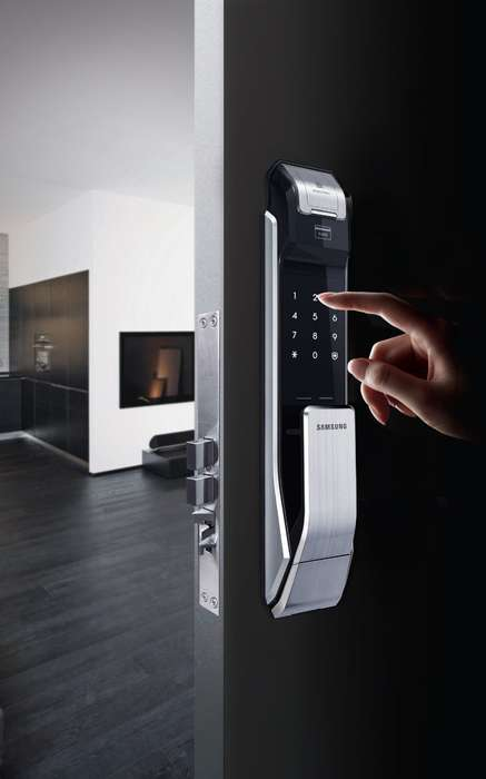Biometric Door Locks - This Samsung Smart Door Lock Enables Fingerprint Scanning and Codes for Entry