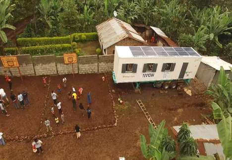 Shipping Container Classrooms - This Mobile Classroom is Designed to Promote Digital Literacy