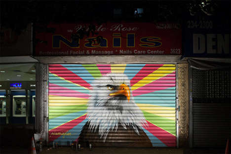 Endangered Species Graffiti - The 'Audubon Mural Project' Raises Awareness About Endangered Birds