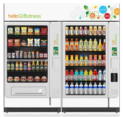 Healthy Food Vending Machines - This PepsiCo Vending Machine Only Offers Nutritious Choices