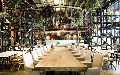 Terrarium-Inspired Eateries - This Fusion Restaurant is Housed Inside a Former Warehouse