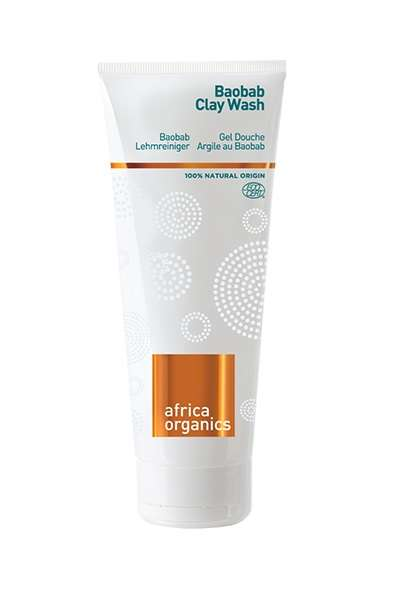 Clay Body Cleansers - Africa Organics' Baobab Clay Wash is a Foaming Exfoliant